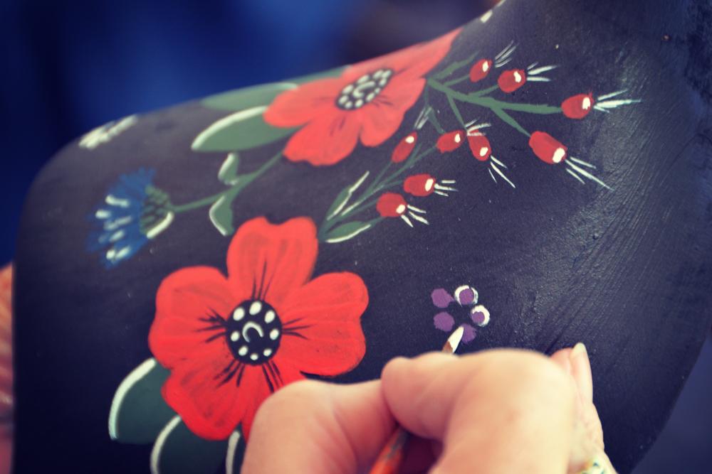 Schilderen - Details - Afwerking klompen