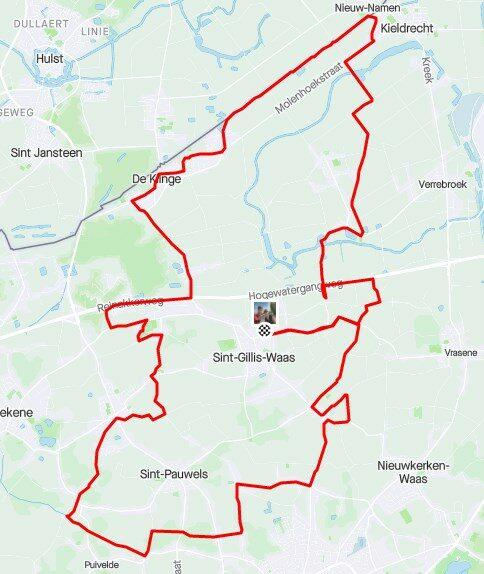 50 km fietsen.